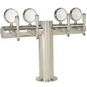 "Illuminated Metropolis ""T"" - 4 Faucets - Polished Stainless Steel - Glycol Cooled"