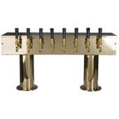 Double Pedestal - 8 Faucet - PVD Brass - Glycol Cooled