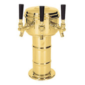 Mini Mushroom - 3 Faucet - Polished Brass - Glycol Cooled