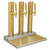 Skyline Beer Tower - 3 Faucet - PVD Brass - W/O Rinser