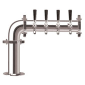 Brauhaus L - 4 Faucets - Chrome Finish - Glycol Cooled