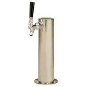 "3"" Column - 1 Faucet - Polished Stainless Steel - Glycol Cooled"