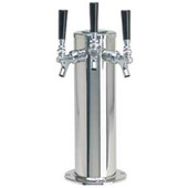 "4"" Column - 3 Faucets - Polished Stainless Steel - Air Cooled"