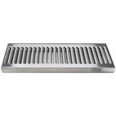 "Surface Mount 5"" Wide Drip Trays w/ Drains - Stainless Steel"
