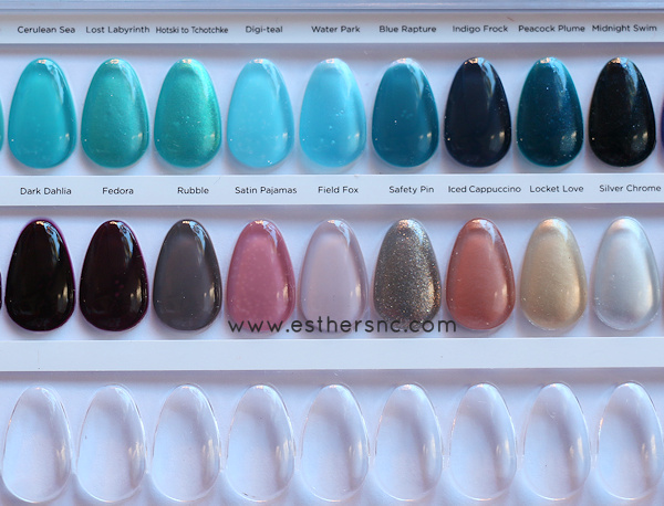 CND Shellac Color Chart — Esther's Nail Corner