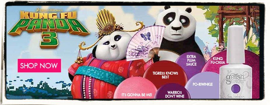 New Gelish Kung Fu Panda Collection