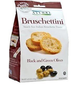 Asturi Bruschettini Black & Green Olive 4.2oz bags
