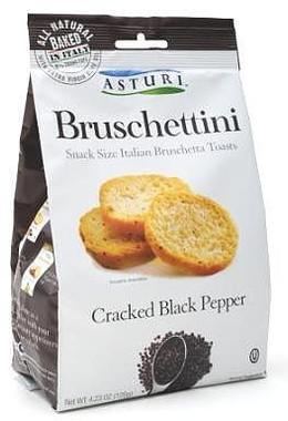 Asturi Bruschettini Cracked Pepper 4.2oz bags