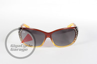 Chix Passion Sunglasses - Brown Fade Frame with Smoke Fade Lenses