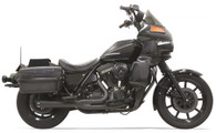 Bassani Road Rage 2 into 1 Exhaust for FXR models With Floorboards Black