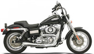 Bassani Road Rage 2 into 1 Exhaust for Dyna models 91-15 Chrome