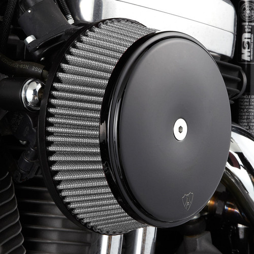 Ness Big Sucker TwinCam Chrome Dyna Softail Stainless Filter Black