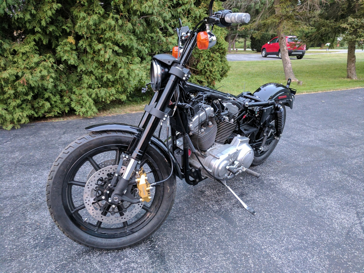 Corsair Sport Inverted Front End by Gigacycle Garage for 82-Later Sportster  Models