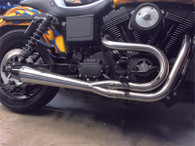 Sawicki Speedshop Brushed Stainless 2 into 1 Exhaust for Dyna models 91-17