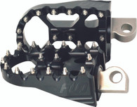 Flo Moto Footpegs Flat Black fits Harley Models 1981-Present