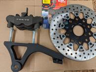 Dyna 4-Piston Rear Brake System for stock Dyna Swingarm 00-05 Complete Kit