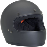 Biltwell Gringo Retro Fullface Helmet DOT Approved Flat Black