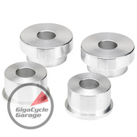 39MM Solid Riser Bushings - Raw Aluminum