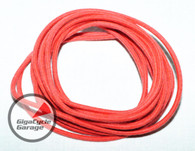 Gigacycle Garage Maxx Wire - 16 Gauge - 10 feet - Vintage Style Cloth Covering - Red