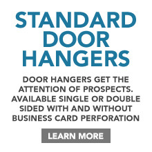 Standard Door Hanger Printing
