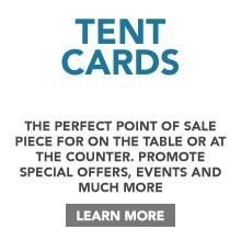 Tent Card Printing