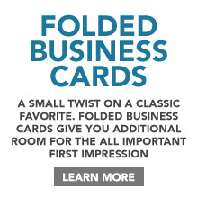 Folded Business Card Printing