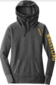 LSW09 -Lakeville SOUTH New Era® Ladies Tri-Blend Fleece Pullover Hoodie with Metallic SOUTH Logo on shoulder and WRESTLING down Sleeve