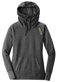 LSHS06 -Lakeville SOUTH New Era® Ladies Tri-Blend Fleece Pullover Hoodie with Metallic SOUTH Logo on shoulder