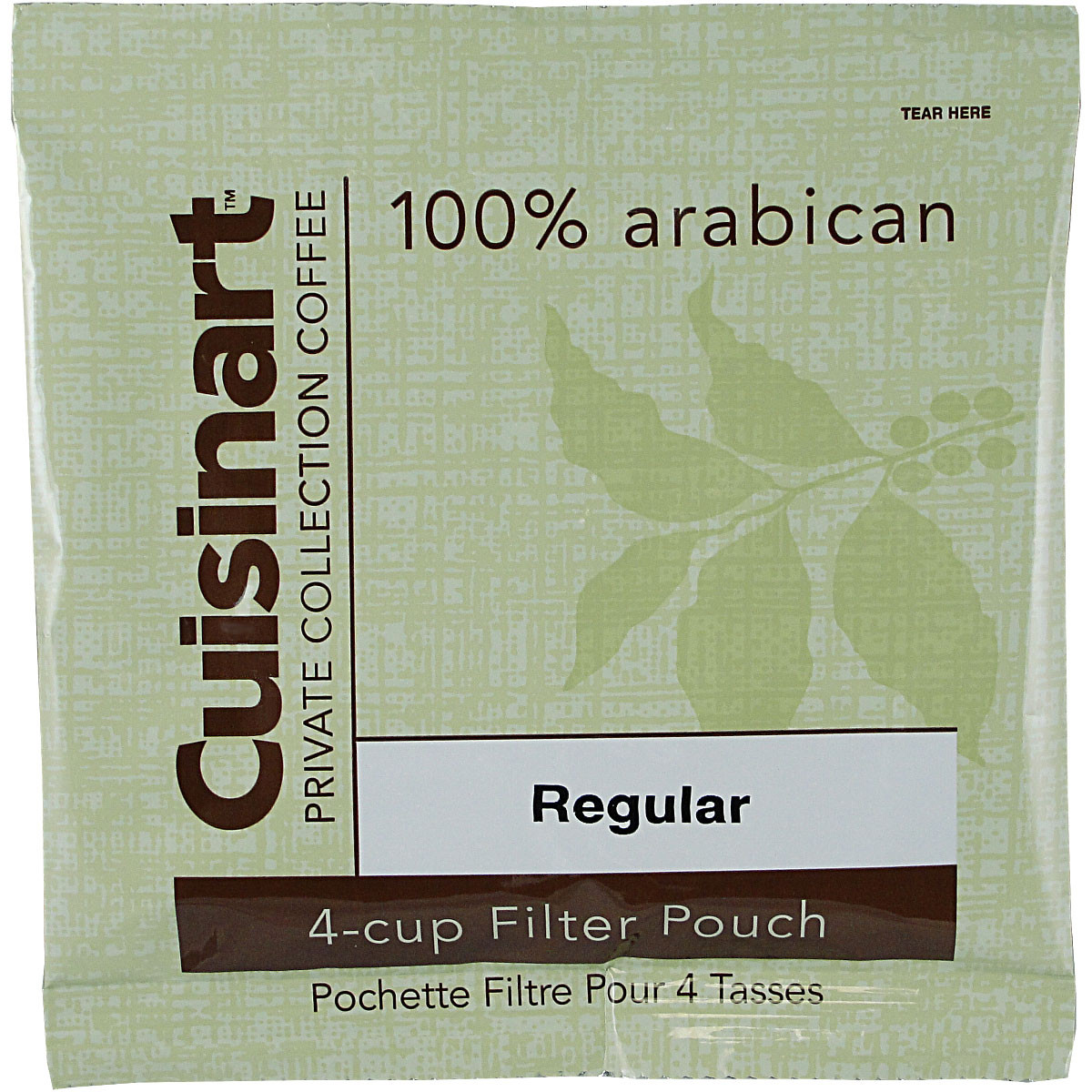 Coffee Makers That Use Pouches : Cuisinart Private Collection Coffee 4-cup Filter Pouch Regular, Case of 100 WallMountDryer.com