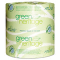 Green Heritage Toilet Paper 4.5 x 3.75 Sheets, 1-Ply 1000/Roll, Case of 96
