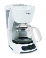 Mr coffee tf4 099 white 4 cup for Small apartment coffee maker