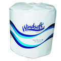 Windsoft 1 Ply Single Roll Quality Toilet Paper, Case of 96