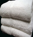 Oxford Vicenza Hand Towel. 16x32, 6 lb., 100% Cotton, Dobby Border & Dobby Hemmed, White, 1 dozen