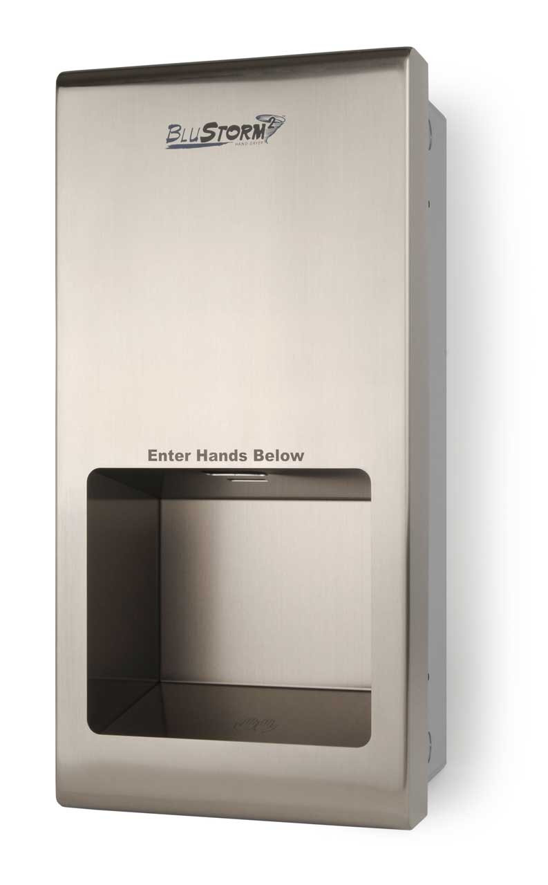 Blustorm2 Hd955 Recessed High Speed Touchless Hand Dryer