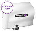 American Dryer ExtremeAir CPC9-M Cold Plasma Clean Hand Dryer, Heated, White Steel