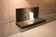 Wall Flame II - Black, Black surface, Black glass