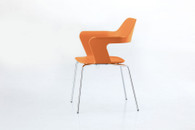 MU Orange Stacking Chair