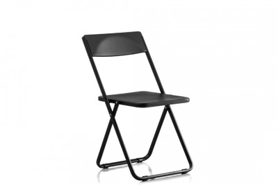 Slim Black Folding Chair
