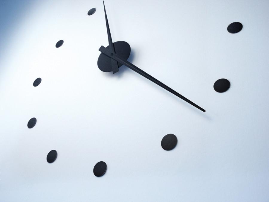 wall clock black radius design usa. Black Bedroom Furniture Sets. Home Design Ideas