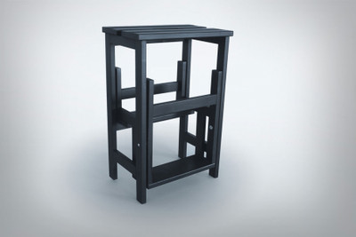 Stool Ladder Black