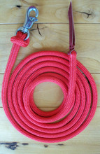 Red Lead Rope With Stainless Steel Trigger Bull Snap