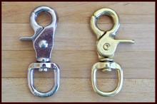 Nickel and Brass Scissor Snaps