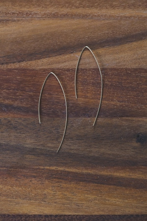 Veronica & Harold - Larissa Simple Hooks in Gold $35 - Show Pony Boutique