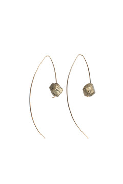 Veronica & Harold - Maya Raw Pyrite Hook in Sterling Silver $40 - Show Pony Boutique