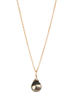 Veronica & Harold - Hilary Faceted Teardrop Stone on Gold Chain - Show Pony Boutique