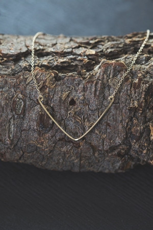 Veronica & Harold - Blair Chevron Necklace in Gold $63 - Show Pony Boutique
