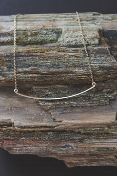 Veronica & Harold - Kate Bar Necklace in Gold $60 - Show Pony Boutique