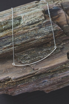 Veronica & Harold - Kate Bar Necklace in Sterling Silver $50 - Show Pony Boutique