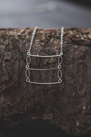 Veronica & Harold - Eve Ladder Necklace in Sterling Silver $55 - Show Pony Boutique