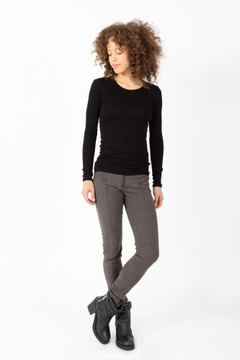 Prairie Underground - Long Crewneck in Black $84 - Show Pony Boutique